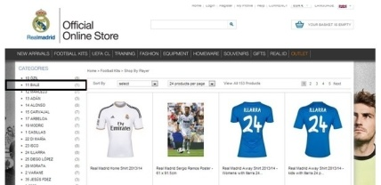 loja do real madrid camisas do bale a venda